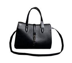 Gucci Jackie Soft Leather Top Handle Bag 365460 Black