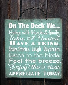 Hey, I found this really awesome Etsy listing at https://www.etsy.com/listing/228809834/deck-rules-deck-sign-patio-decor-patio