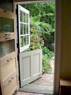 Dutch door from the mud room...