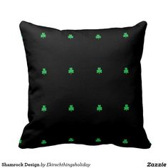 Shamrock Design Pillows