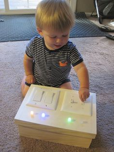 Diy led light switch toy