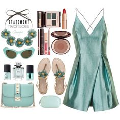 Top Set 8/2/16 Floral Collar by gemique on Polyvore featuring Topshop, Kate Spade, Valentino, MANGO, Gucci, Charlotte Tilbury, Hadaki, NARS Cosmetics and statementnecklaces