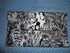 Handmade Clutch Purse - Black and White Print