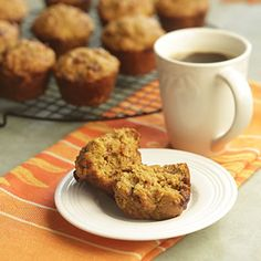 Orange-Date Pumpkin Muffins. Swap out Splenda with coconut sugar, canola oil with coconut oil
