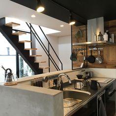 Kitchen/IKEA/コーヒータイム/スケルトン階段/グリーンのある暮らし/ワンコと暮らす家...などのインテリア実例 - 2018-02-13 23:49:59   RoomClip (ルームクリップ)