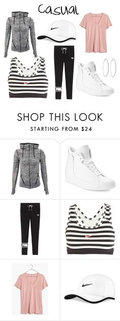 """""""What's Your Style Quiz- Casual Outfit"""" by whitney-carter03 on Polyvore featuring Converse, Victoria's Secret, NIKE, Madewell and Roberta Chiarella"""
