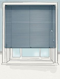 Mineral Blue 25mm venetian blind - ideal for kitchens and bathrooms, with the robust and waterproof aluminium slats allowing you to create a stylish and contemporary look anywhere in the home... #blinds #venetian #aluminium