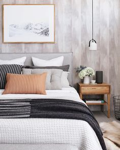 Find the best bedroom ideas, designs & inspiration to match your style. This bedroom decor ideas.Planning and decorating your bedroom. Dream Bedroom, Home Decor Bedroom, Master Bedroom, Wall Paper Bedroom, Bedroom Ideas, Bedroom Styles, Guest Bedrooms, My New Room, Home Decor Inspiration