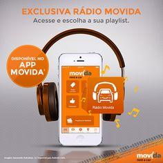 Viagem + música = combinação perfeita.   Pensando nisso, a #MovidaRentACar lançou com exclusividade em seu app a Rádio Movida. Agora você pode curtir o passeio escutando suas músicas preferidas!