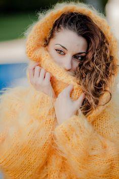 Custom Order Cowl Neck Mohair Sweater ,Hand Knitted Dress,Maxi Fluffy Angora T2 #TiffyMohair #CowlNeckSweaterDress