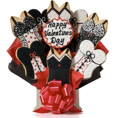 Valentine Candy Bouquet. Corsos Cookies Valentines Day Lingerie Cookie Bouquet Gift Baskets