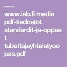www.iab.fi media pdf-tiedostot standardit-ja-oppaat tubettajayhteistyoopas.pdf