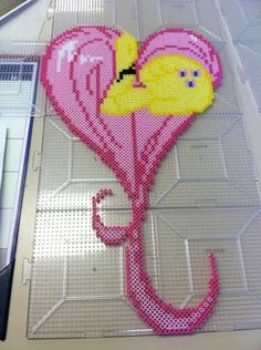 MLP Fluttershy Perler beads by Khoriana on deviantART