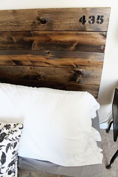 Confessions of a New / Old Home Owner: $35 DIY Industrial Headboard