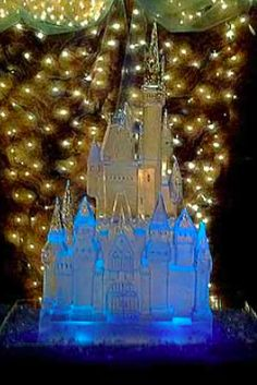 Castle Ice Sculpture at Wedding | Full Spectrum Ice Sculptures