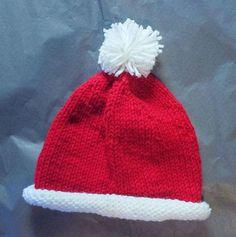 Santa Baby Hat | AllFreeKnitting.com