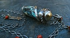 Nevada Turquoise Necklace Turquoise Bullet by DeborahLeeTaylor, $175.00