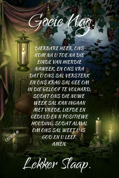 Evening Greetings, Afrikaanse Quotes, Goeie Nag, Good Morning Good Night, Sleep Tight, Morning Greeting, Poems, Autumn Trees, Angels