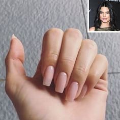 Kendall Jenner gets long acrylic nails like sister Kylie Jenner (after . - Kendall Jenner gets long acrylic nails like sister Kylie Jenner (after calling her once! Square Acrylic Nails, Best Acrylic Nails, Square Nails, Acrylic Nail Designs, Classy Acrylic Nails, Kendall Jenner Nails, Acrylic Nails Kylie Jenner, Kylie Jenner Nails, Kendall Jenner Short Hair