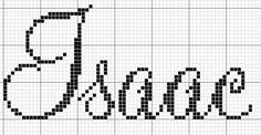 Resultado de imagen para nome isaac em ponto cruz