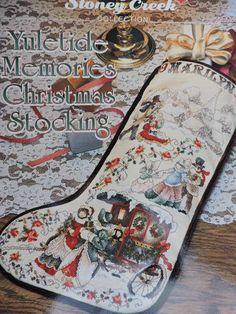 SeeSallySew.com - Yuletide Memories Christmas Stocking Cross Stitch Stoney Creek Design Chart Needlework 81  , $8.00 (http://stores.seesallysew.com/yuletide-memories-christmas-stocking-cross-stitch-stoney-creek-design-chart-needlework-81/)