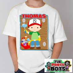 Custom Handy Manny Birthday Party Shirt | Personalized Gifts Like Shirts and Decals