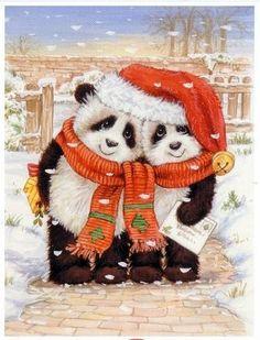 panda art...OMG how cute!