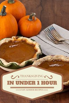 Have a Happy Thanksgiving and ease up on the cooking, you can do it in 1 hour!!