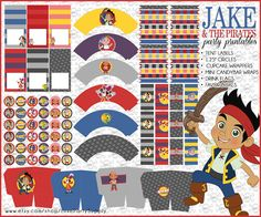 Jake and the Neverland Pirates Printable Party by partyprintouts