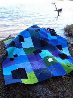 From City Quilts. What an impact solid fabrics and great quilting can make.