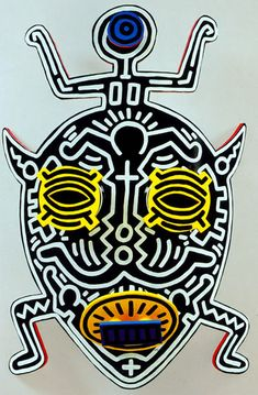 Hollywood African Mask, 1987  Enamel on Aluminum  40 x 33 x 11 inches   101.6 x 83.8 x 27.9 cm