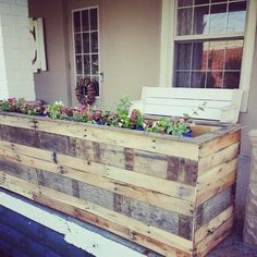 Nice Pallet Planter Boxes  #garden #planter #recyclingwoodpallets Planter boxes made from repurposed wooden pallets.     ...