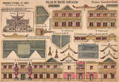 d'Epinal paper toy sheet No. 1267 Palais du Roi De Siam flickr find at https://www.flickr.com/photos/taffeta/14099293087/in/set-72157626790129899