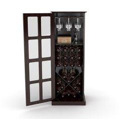 Home Bar Cabinet Wine Rack Free Standing Floor Storage Box Corner For Home Shelf #DarLiving