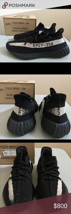 """NWT! Adidas Originals Yeezy Boost v2 350 """"White"""" Brand New/Never Worn. Size 11.5 Brings original everything Bought from Footlocker %100 AUTHENTIC   Formfitting Primeknit upper is unlined and breathable. Moccasin construction with sonic welded seam tape. Back pull-tab. Clarino lining to prevent slip. Premium suede arch support. Antimicrobial sockliner cover. Full-length internal Boost midsole. Rubber outsole. Adidas Shoes Sneakers"""