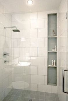 Top Inspire Small Bathroom Shower Remodel Ideas - Page 15 of 30 Bathroom Remodel Shower, House Bathroom, Bathroom Redesign, Bathroom Shower Tile, Modern Bathroom, Bathroom Renovations, Bathroom Shower, Bathrooms Remodel, Bathroom Design