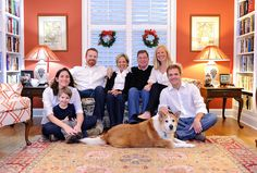 Indoor shot of family on couch with dog by Ryan Smith Photography, via Flickr