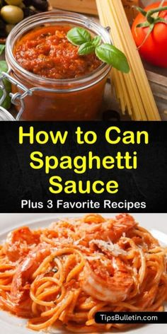 Canning spaghetti sauce with meat is simple when using one of our tasty pressure cooker recipes. Our recipes use only fresh ingredients to bring you a flavor not found in a jar. Pressure Canning Recipes, Home Canning Recipes, Pressure Cooker Recipes, Cooking Recipes, Pressure Cooking, Kitchen Recipes, Canning Vegetables, Canning Tomatoes, Veggies