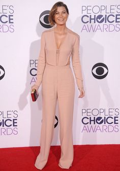 Ellen Pompeo wears ELIE SAAB Resort 2015 at The 41st Annual People's Choice Awards in LA.