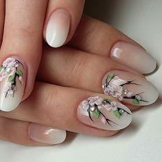 53 Awesome Cherry Blossom Nail Art Designs and Ideas Floral Nail Art, 3d Nail Art, 3d Nails, Pastel Nails, Bling Nails, 3d Flower Nails, Cherry Blossom Nails, 3d Nail Designs, Nailart