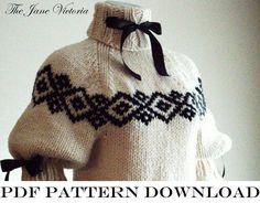 Jumper+Knitting+PATTERN+Nienna+Amandil+PDF+door+TheJaneVictoria,+$5.00
