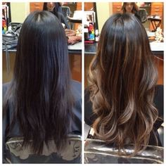 Hair transformation. before and after #jetblack hair # ...