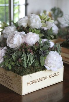 Wine Tasting Party- Use a nice wine crate for floral arrangement.