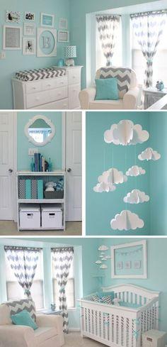 Soo cute love the gray and light aqua!
