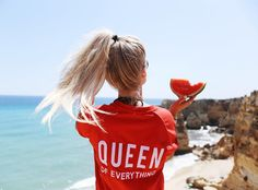 """7,105 Likes, 136 Comments - . . Simone   Düsseldorf ❥ (@si_sichen) on Instagram: """"queen of everything 🍉🙊 always happy at the beach 😍♥️ save 20% off everything @colourfulrebel with…"""""""