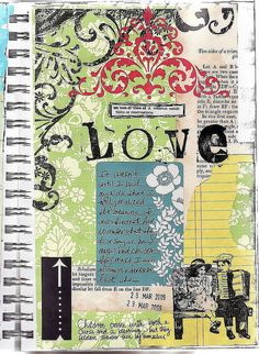 "Unconditional love ""art journal"" 