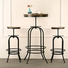 Cooperative Ikayaa Bar Stool Chair Natural Pine Wood Top Swivel Kitchen Dining Sitting Chair Height Adjustable Industrial Style Bar Stool Bar Furniture
