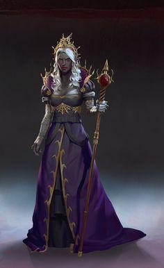 Dark Elf Queen, Lake Hurwitz on ArtStation at https://www.artstation.com/artwork/dark-elf-queen-4366e87f-3ec7-48d9-9080-b3a2d02d8fe0