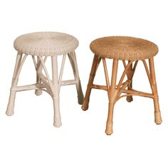 Round Wicker Stool via @wickerparadise #wicker #accessory #stool www.wickerparadise.com