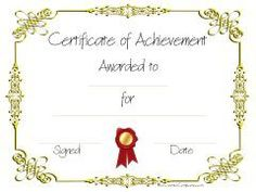 Certificate Of Achievement Templates Free Sample Achievement Certificate Template  Flyers  Pinterest .